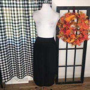 Talbots black Italian wool midi skirt size 10 11B